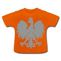 Polska Baby Shirt [Orange/Silbergrau/Samtig] - Baby T-Shirt