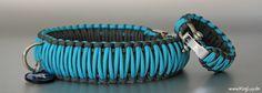 Mal eine schöne Paracord Halsband Variante in türkis/grau