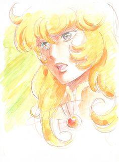 Portrait d'Oscar de Versailles no Bara par @NISHINOB, le chara designer d'After War Gundam X