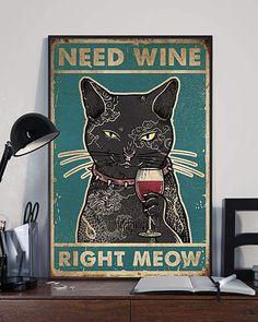 Crazy Cat Lady, Crazy Cats, Black Cat Art, Black Cats, Right Meow, Cat Posters, Cat Decor, Cat Drawing, Cool Cats