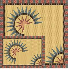 Sunrise Table Set Pattern TRQ-150 (intermediate, home decor & houseware)- $12.00