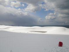 雪の鳥取砂丘
