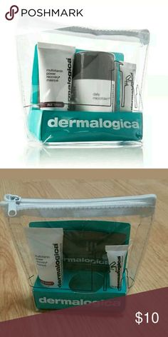 Brand new! Dermalogica partial kit. Cheers to happy skin skin kit brand new, includes:   Dermalogica bag  Multivitamin Power Recovery Masque .5 Oz  Intensive Eye Repair .1 Oz  Skin hydrating booster sample  Missing daily microfoliant Makeup