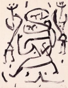 Paul Klee 'Trotz Belastung' (Despite Load) 1938 Paste color on paper with glue spots on cardboard 27 x 21 cm