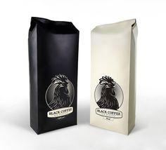 Black coffee packaging