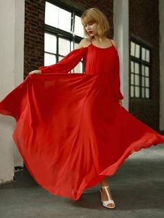 $53.99 Flowing red gown.