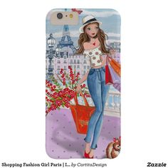 Shopping Fashion Girl Paris Iphone 7 plus Case Iphone 6 Plus Case, Iphone Phone Cases, Iphone 8, Iphone Gadgets, Iphone Price, Valentines Gifts For Her, Design Case, Paris, 6s Plus