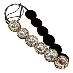 Handmade Round Beads with Clear and Dark Crystals Elastic Fashion Headband Hair Accessory CB Accessories http://www.amazon.com/dp/B00L6GTN28/ref=cm_sw_r_pi_dp_UGHtwb1QMMWN2