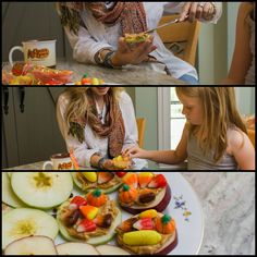 Fall means tasty twists to your favorite snacks. Slice red and green apples into disc shapes and spread on your favorite brand of creamy peanut butter. Top with trail mix, or the Cracker Barrel Harvest mix for an especially sweet treat.