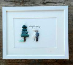 Chistmas pebble art Christmas gift Holidays by pebbleartSmiljana