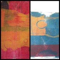 --I recently bought a Gelli Printing Plate and have been having a blast with making monoprints!  Exercising the Art I Know: First round of printing with a Gelli Plate