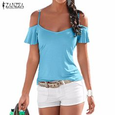New Summer Blusas 2016 Fashion T Shirt Women Casual Stretch Tops Tees Sexy V Neck Short Sleeve Off Shoulder Solid T-shirt