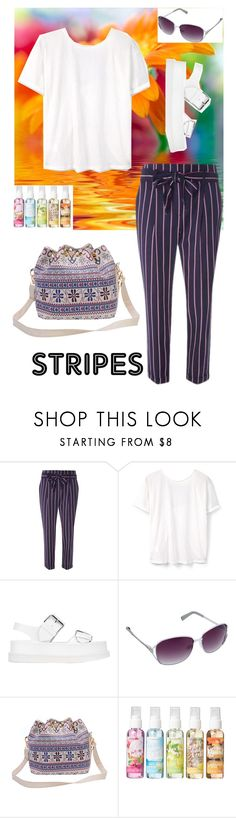 """""""Striped Pants"""" by tonia-ro ❤ liked on Polyvore featuring Dorothy Perkins, MANGO, STELLA McCARTNEY and Simple Pleasures"""