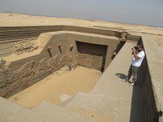 Tumba del rey Den , Umm el qaab , Abydos , Abidos , Egipto , Egypt ,Egypte, Egipte. 1 ª Dinastía , first dynasty.