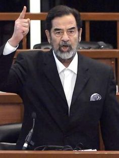 """Moreover, their LEADER was named APOLLYON in the Greek language, and ABADDON in the Hebrew language. Those names mean """"THE DESTROYER"""". Amazingly, the name SADDAM means """"the destroyer"""". TRUMP 5 Serial Friends, Kinds Of People, Crazy People, Saddam Hussein, Contemporary History, History Facts, Psychopath, Criminal Minds, True Crime"""