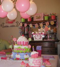 great color coordinates! And awesome idea for cake - large cupcake :)