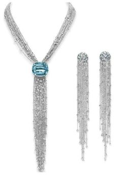 Aquamarine and diamond suite, Lynn Nakamura. Elizabeth Taylor collection, Christie's.