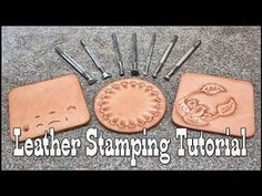 Leather stamping tutorial with Craftool leather stamps Diy Leather Stamp, Diy Leather Tools, Diy Leather Bracelet, Leather Working Tools, Leather Diy Crafts, Leather Art, Sewing Leather, Leather Gifts, Leather Projects