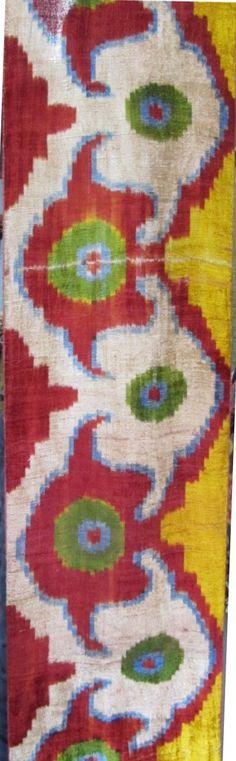 FAST Shipment with FEDEX (1-3 Days) Yuner / Silk Velvet, uzbek ikat fabric, 3 yard,K46B