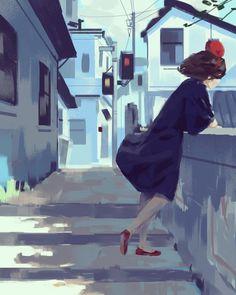Twitter Kiki Delivery, Kiki's Delivery Service, Studio Ghibli Art, Studio Ghibli Movies, Nausicaa, Howls Moving Castle, My Neighbor Totoro, Animation, Hayao Miyazaki