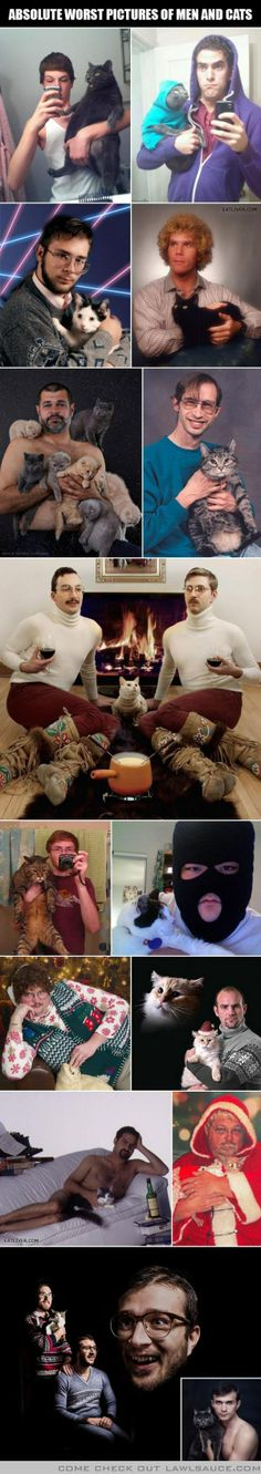 Worst pictures of men and cats (EVER!)