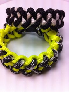 Shark Weave  Paracord Bracelet FREE SHIPPING by CJWOODCRAFTS, $8.00