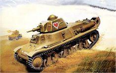 Hotchkiss H39, 14 Batallon de carros, Francia 1940. Tanque ligero con el cañón largo SA 18 L33 de 37mm, en lugar del L21 que venía de serie en los H35, lleva la cola para salvar trincheras. Jaroslaw Wróbel