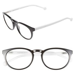 Jonathan Adler '803' 51mm Reading Glasses (190 BRL) ❤ liked on Polyvore featuring accessories, eyewear, eyeglasses, glasses, black, plastic reading glasses, reading eye glasses, plastic lens glasses, lightweight glasses and plastic glasses