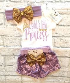 A personal favorite from my Etsy shop https://www.etsy.com/listing/525855198/baby-girl-clothes-daddys-little-princess