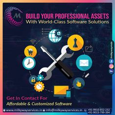 Build Your Professional Assets With world-class Software Solutions Get in contact for Affordable & customized Software Call ☎️ at : +91-9015-799-394, +91-9910-852-232 For more information about service visit our site right now- . . #software #softwaredevelopment #softwaredesign #development #technology #developer #customsoftware #webdesign #websitedevelopment #startup #website #schoolsoftware #erpsoftware #hrmsoftware #ecommerce #businessapp #business #itcompany #branding Software Development, Ecommerce, Web Design, Branding, Technology, Website, School, Business, Tech
