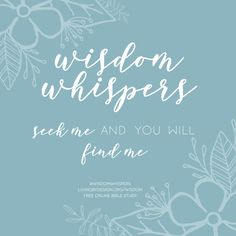 This 31-day free online Bible study of King Solomon will help you hear Wisdom's call to salvation, obedience, and humility. Wisdom Whispers is packed with powerful biblical truths and beautiful digital gifts. All you need to complete this study is 15-minutes per day and a mobile device.   Bible Study for Women   Spiritual Growth for Christian Women   #wisdomwhispers #biblestudy