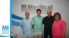 Noel Agius, Director de Operaciones de Mi Medical, junto con Miguel del Val, fisioterapeuta, Javier Suárez, enfermero, y Maite Sánchez, recepcionista.