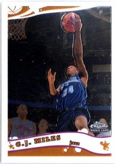 2005-06 TOPPS CHROME C. J. MILES ROOKIE CARD in Sports Mem, Cards & Fan Shop, Cards, Basketball | eBay $0.01