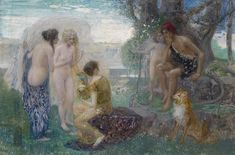 The Judgement of Paris, oil on cardboard, Private collection