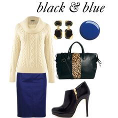 """black & blue"" by nicole-longstreath on Polyvore"