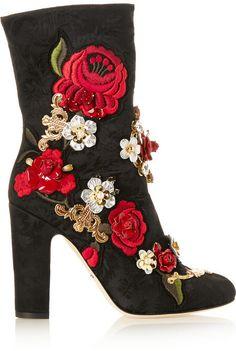 Dolce & Gabbana Embellished brocade boots