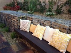 Gabion wall ideas, with FREE how-to guides, videos, pictures and advice to help inspire your gabion wall project @ www.gabionwallexpert.com