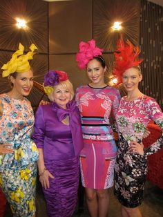 The Hat Box, Sep 2014 - . www.thehatbox.com.au  Milliners not credited - guessing from website, pink headpiece - Kylie Heagney. They stock Australian milliners, Patricia Balmer, Ann Boyle, Kim Fletcher, Neil Grigg, Kylie Heagney, Jonathan Howard, Kathy Neumann, Suzy O'Rourke, Elizabeth R, Phillip Rhodes, Sandra Robson, Karen Valentine and Wendy White. She also stocks the exquisite hats from Stephen Jones, London Race Day Fashion, Races Fashion, Melbourne Cup Fashion, Karen Valentine, Stephen Jones, Race Wear, Mom Dress, Dress Outfits, Dresses