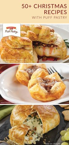 Snack Recipes, Cooking Recipes, Snacks, Holiday Recipes, Christmas Recipes, Pepperidge Farm Puff Pastry, Puff Pastry Sheets, Puff Pastry Recipes, Xmas Food