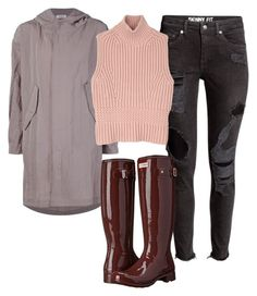 """""""Untitled #2303"""" by caffeinatedfashionista on Polyvore featuring Nomia, Diesel Black Gold and Hunter"""