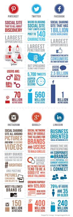 Social Media Sites: Which Is Best For You? [infographic] - Louise Myers How-To Graphics