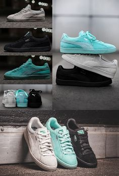 65657fd85e Puma X Diamond Supply Co. Second Coming- Suede-with leather Alligator  Stripe, Mesh Details, Sole is sewn into the upper- Tiffany Blue-Black-Gray