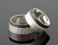 Ringepaar CARBON, Silber 925 von MEIN LIEBLINGSRING auf DaWanda.com