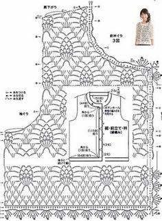 Captivating Crochet a Bodycon Dress Top Ideas. Dazzling Crochet a Bodycon Dress Top Ideas. Crochet Bolero, Gilet Crochet, Crochet Cardigan Pattern, Crochet Jacket, Crochet Blouse, Crochet Chart, Bead Crochet, Crochet Stitches, Modern Crochet Patterns