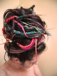 Drealock top knot. One Luv +dreadstop / @DreadStop #dreadlocks