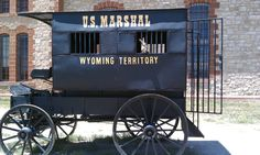 Jack is being hauled to the Wyoming Territorial Prison, Laramie, in a prison wagon!