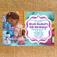 Hey, I found this really awesome Etsy listing at https://www.etsy.com/listing/167383649/customized-doc-mcstuffins-birthday-party