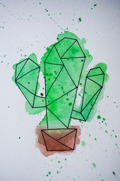 Watercolour Drawings, Watercolor Illustration, Painting & Drawing, Watercolor Art, Art Drawings Sketches Simple, Colorful Drawings, Easy Drawings, Geometric Drawing, Geometric Art