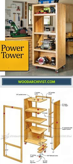 DIY Power Tool Storage Tower - Workshop Solutions Plans, Tips and Tricks | WoodArchivist.com