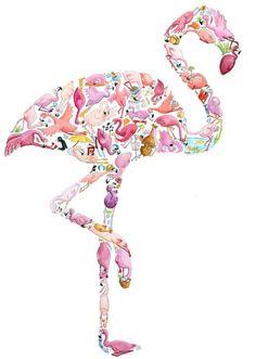 Flamingo collage!